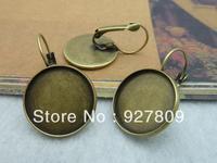 Diy accessories vintage handmade materials ancient bronze 18mm stud earring  10pcs/lot