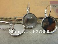 Diy accessories vintage handmade white k stud earring  16mm 10pcs/lot