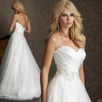 Free shipping! 2014 wedding formal dress; Sweetheart neckline wedding dresses with brief train