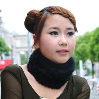 2013 Winter 100% Genuine rabbit fur Knitted muffler/ fur scarf*CPA FREE SHIPPING*SU-1335