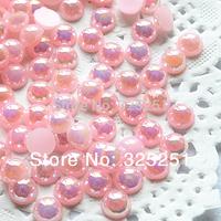 resin AB pink flat back pearl 1.5-12mm 10000-1000pcs/lot free shipping