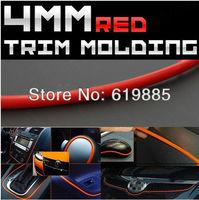 4MM x 10FT Red Moulding Trim Strip DIY Exterior Interior Decoration