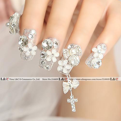 20pcs/Lot 3D Alloy Rhinestones Bow 3d Nails Bow Tie DIY Nail Art Bow pendant decorations Clear Rhinestone Glitters Free Shipping(China (Mainland))
