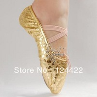 wholesale Belly dance shoes gold shoes japanned leather soft outsole dancing shoes leopard print shoes cat's claw shoes