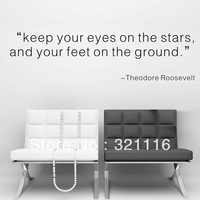 "Free Shipping Home Decor Wall Stickers Wall Quote Decals Home Decor-""keep your eyes...""by Roosevelt (39.4 x 20.5 in/set)"