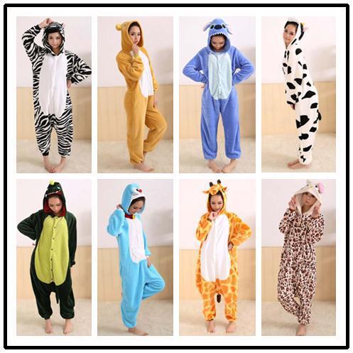 Coral Fleece Pajamas women leopard print Hello Kitty Cosplay Costumes Leopard Animal Pyjamas Sleepwear pajamas(China (Mainland))