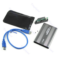 USB 3.0 2.5 Inch Sata Hard Drive Enclosure External Case Hdd Disk Box Silver
