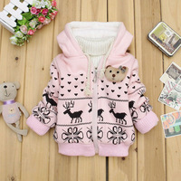 Top rated!! winter warm baby kids fleece hoodies, long sleeve girls coat,children hoodies girls clothing free shipping
