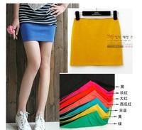 Korean candy color cotton tight hip skirt A-line skirt all-match multicolor bust skirt miniskirt