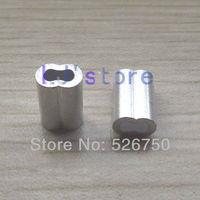 For 1.2mm Diameter Wire Rope Aluminum Crimping Sleeve Aluminum ferrules 200Pcs