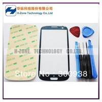 Freeshipping Pebble Blue Touch Screen Outer Glass Lens For Samsung Galaxy S3 SIII i9300 Replacement+Tools+Adhesive