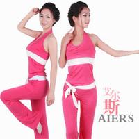 Hot Yoga clothing Set Sleeveless Spring and Summer 2013 Vest Fitness Clothing