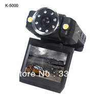Novatek Chipset 140Degree 1080P Full HD Car Blackbox Camera DVR K5000 With 8IR Night Vision,Rotation Screen,Free Shipping