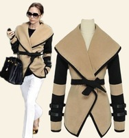 2013 british style autumn personalized large lapel cape wool coat autumn and winter women outerwear