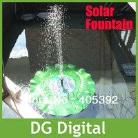 Free shipping Solar Power lotus design floating Fountain Pond Pool Water Pump Kit  garden fountain kits