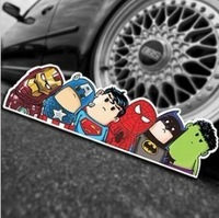 Free shipping 2013 New cute Funny Crooked neck reflective car stickers car decal decoration body decal 26cm*7cm    N-537