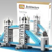 Mini  building blocks assembled DIY creative educational children toys fight inserted plastic force London Bridge