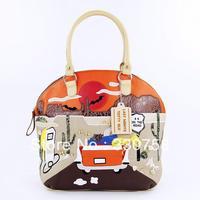 TB 2013 Women Highway No. 66 Pattern Handbags Bolsas Designers Brand Female Retro Creative Fashion Shoulder Big Tote Bag