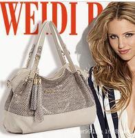 Geniune Leather Chain Handbag Fashion Sequins Bag Tassel Shoulder Tote Handbags of Famous Women Sheepskin Bag Free Shipping