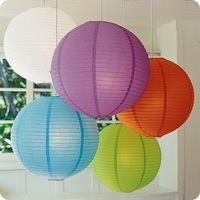 "Free shipping Wholesale 100pcs 10cm(4"") Chinese round paper Lantern wedding Lantern Party Supplies festival decoration Prom"