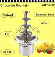 2013 Hot sale! 4 Tiers 60CM comercial use Chocolate Fountain Free Shipping