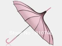 Wholesale - Free shipping Pagoda umbrella bridesmaid umbrella skeleton UV straight handle umbrella Russo-Japanes