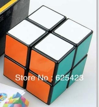 Speed Puzzle Magic Cube 2*2 PVC Sticker Magic Intelligence Test Cube White/Black, Free Shipping