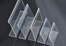 Min order $15(mixed items)L-shaped transparent acrylic price tag plastic table card stand holder  ,(7*5CM )freeshipping(China (Mainland))