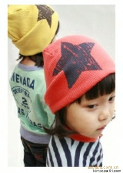 free shipping Fashion Star Design Baby cap Fashion Star hat cotton hat boys & girls skull cap Beanie hat