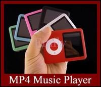 "Real 4GB MP4 Music Video Player Slim 1.8"" LCD Screen E-Book FM+Gift Box DHL Free 50PCS/LOT"