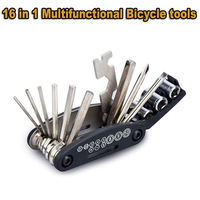 High Quality 16 in 1  Function Multifunctional Tools Bike Bicycle Riding Repairing Pliers Tool Outdoor Tools