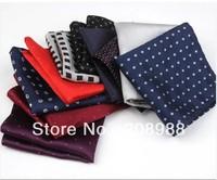 Fashion Mens Pocket Squares Polyester Squareinto Stripe Men's Handkerchief Free Shipping 10pcs/lot #1584