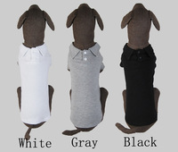 2014 New Pets Products Summer Clothes Clothing For Big Dogs 4 Colors Polo T Shirts Free Shipping