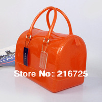 2013 Free shipping designer jelly  candy handbag PVC candy bags transparent candy tote