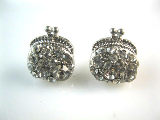 Mini Order USD10 Free shipping Fashion korean style rhinestone Full stud earrings a013()