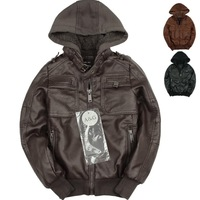 Boy boys winter pu leather jacket cashmere imitation leather clothing