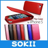 For iphone 5 leather cover with 2 cards slots,Flip Soft Leather Case Cover For Apple iPhone 5+ Screen Protector