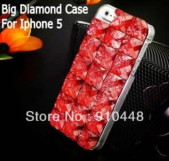 Free shipping luxury Swarovski crystal  big diamond rhinestone case for iphone 5 5s