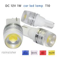 for car care T10 1W LED SMD High power HID turn signal light side marker light blue  wholesale 2pcs car led bulbs