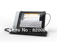 SKYPE Foldable Bluetooth Keyboard with Wired Telephone Handset for iPad 2 iPad 3 The New iPad