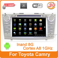 8inch Capacitive Sceen Pure Android 4.0 Toyota Camry 2006-2011 DVD  Radio GPS 3G WIFI 1080P