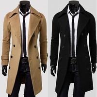 2013 Men's woolen coat New England winter trench hot models Warm Long Jackets Outwear Double Breasted Overcoat 125047