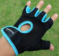 New Summer cool breathable sports bar weight lifting gloves slip-resistant bodybuilding fitness gloves semi-finger gloves