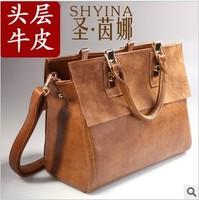 2013 New St. Inna brand ladies' handbags, high quality cowhide Retro Style Shoulder Messenger Bag wholesale, free shipping