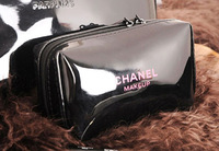 Free Shipping! 2013 exquisite brand new makeup case high qulity women cosmetic cases black zipper pu beauty case