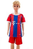 2013-2014 Home red #10 ROBBEN 7# RIBERY Jersey 13-14. kids youth boy soccer uniform , 13/14  Soccer shirt