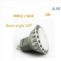 MR11 LED spotlights 2 w, 12 v AC / DC GU4 120 degrees beam Angle aluminum high lumen LED spot