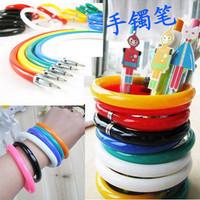 Free shipping novelty pen unusual school bracelet korea stationery ballpoint pen gift pen little prizes novelty items