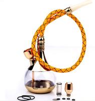 new zobo dual-use shisha cigarette holder smoking filter tobacco water pipes gold mini glass shisha hookah narghile with hose