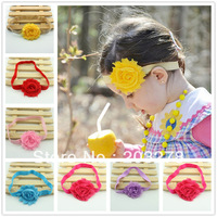 Shabby Flowers headband elastic Headbands for Baby Newborn/Baby headband Christmas gift wholesale